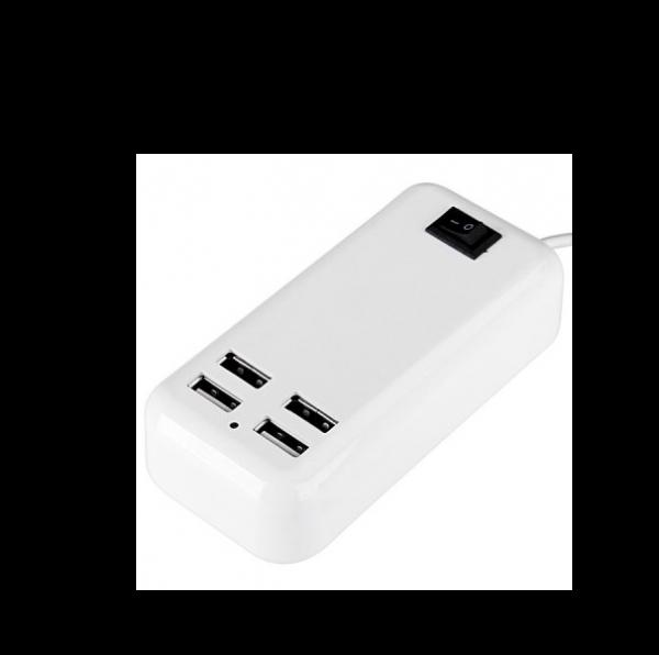 Hub da 4 porte USB con alimentazione da rete elettrica